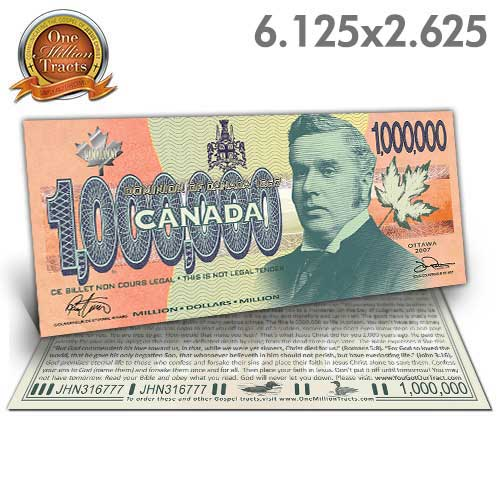 Canadian Million Dollar Bill (One Million Tracts)