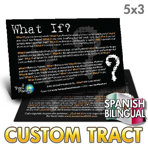 Custom Tract - Spanish What If (Bilingual)