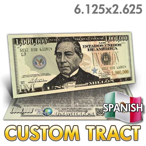 Custom Tract - Spanish Million Dollar Bill (Garcia)