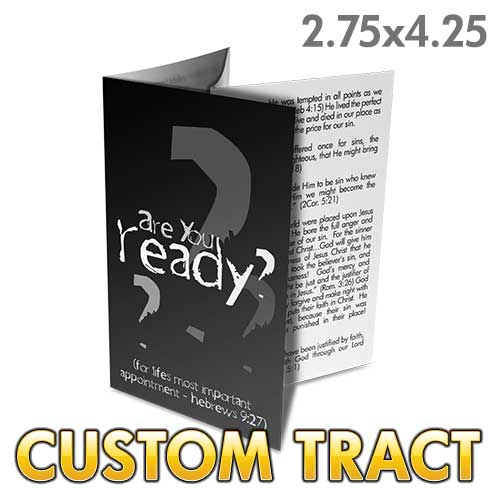 Custom Tract - Are You Ready? (Folded Tract)