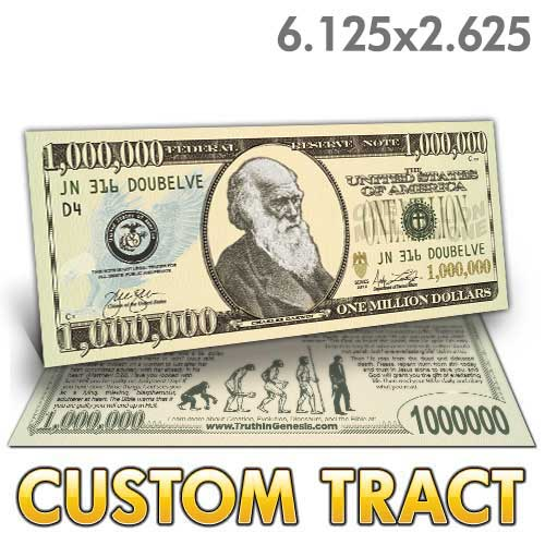 Custom Tract - Darwin Million Dollar Bill