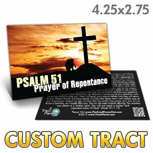 Custom Tract - Psalm 51 Repentance Card