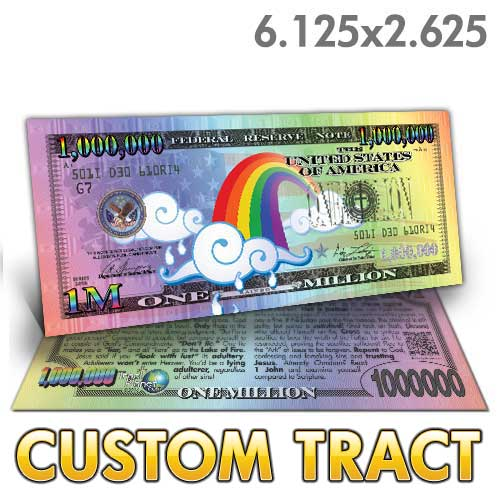 Custom Tract - Rainbow Million Dollar Bill