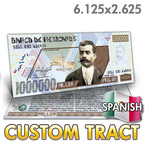 Custom Tract - Spanish Million Peso Bill