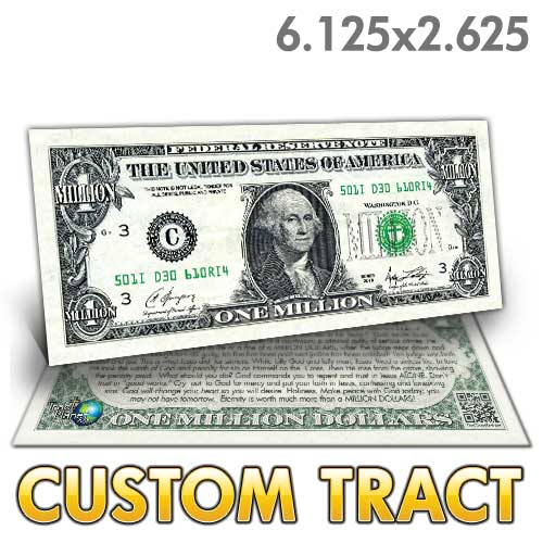 Custom Tract - Washington Million Dollar Bill