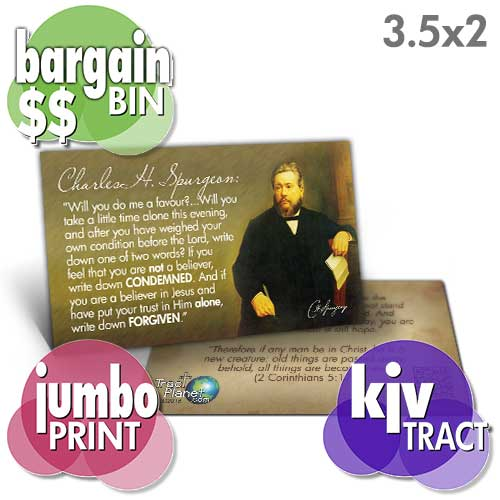 Spurgeon Card (KJV) (Pack of 100)