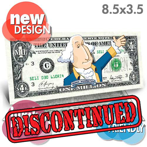 Washington Million Dollar Bill (Jumbo) (New Design)