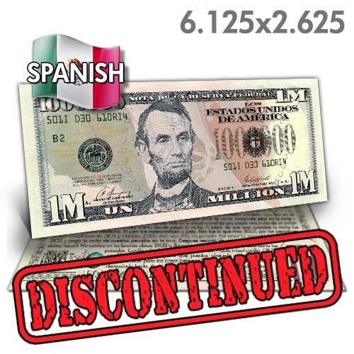 Spanish Lincoln Million Dollar Bill