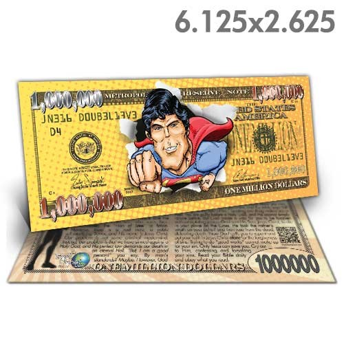 Superman Million Dollar Bill