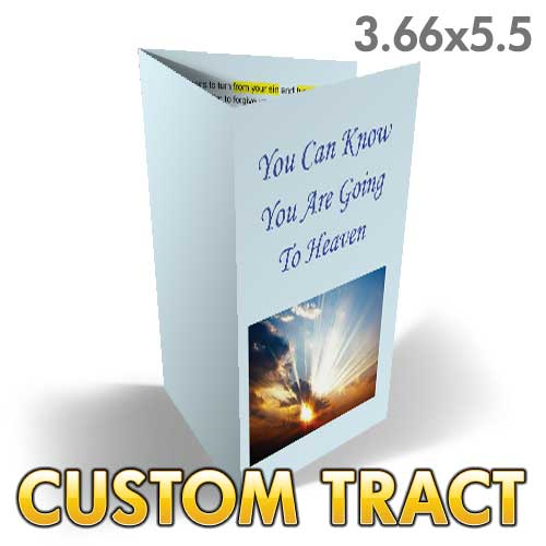 Custom Folded Tract - You Can Know You're Going to Heaven