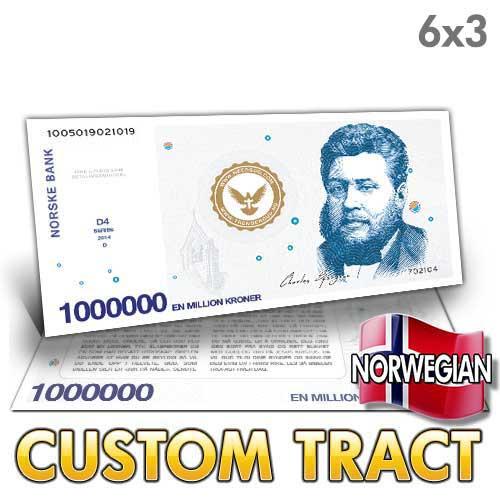 Custom Tract - Norwegian Million Dollar Bill
