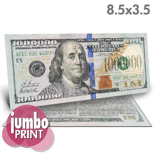 Franklin Million Dollar Bill (Jumbo)