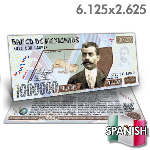 Spanish Million Peso Bill