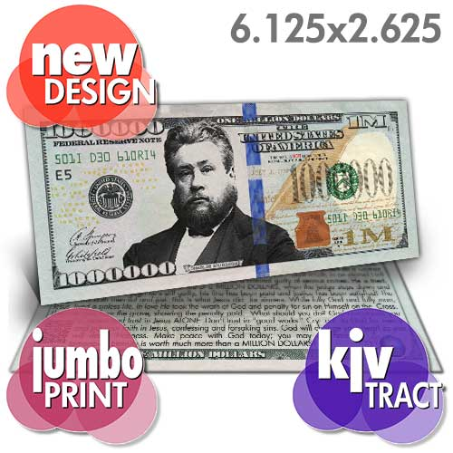 Spurgeon Million Dollar Bill (KJV) - New Design