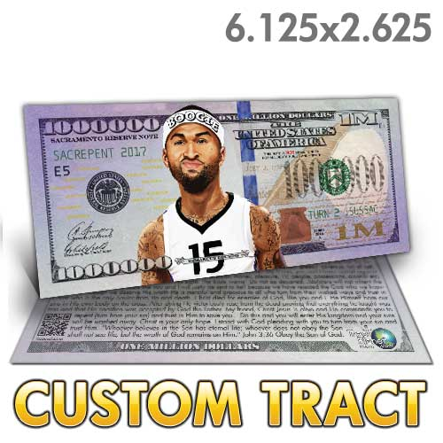 Custom Tract - DeMarcus Cousins Million Dollar Bill