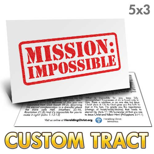 Custom Tract - Mission Impossible