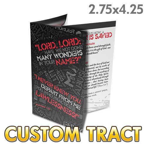 Custom Tract - I Never Knew You