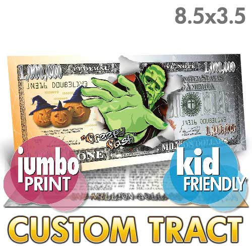 Custom Tract - Creepy Cash (Jumbo)
