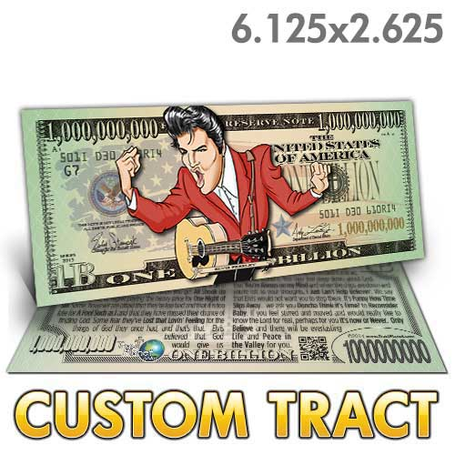 Custom Tract - Elvis Billion Dollar Bill