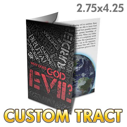 Custom Tract - Why Does God Allow Evil Folded Tract