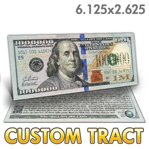 Custom Tract - Franklin Million Dollar Bill