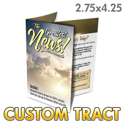 Custom Tract - The Greatest News
