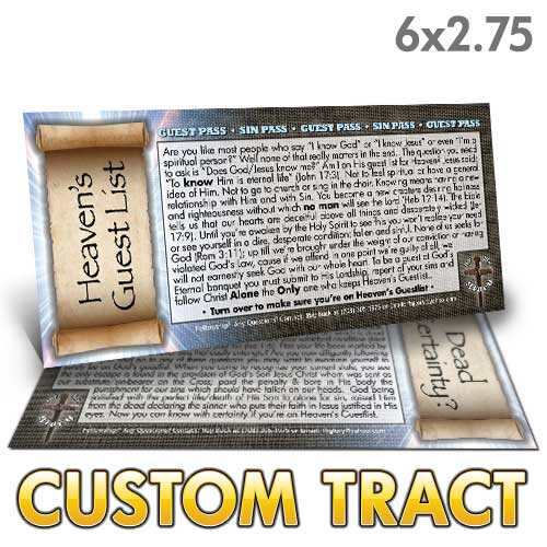 Custom Tract - Heaven's Guest List
