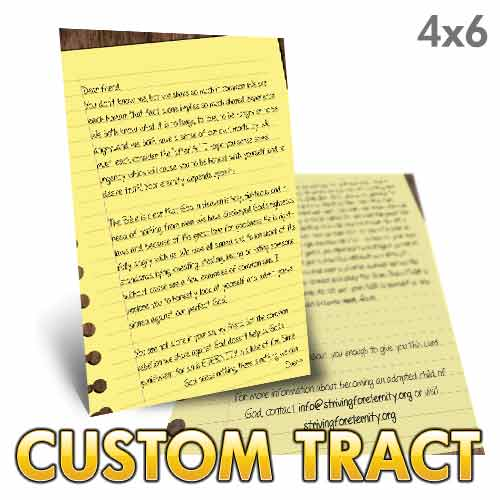 Custom Tract - Letter to a Friend
