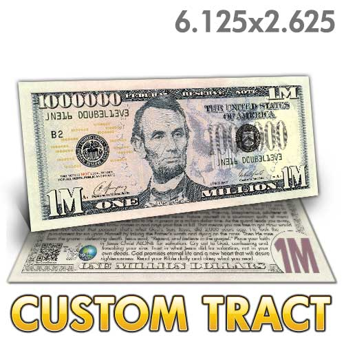 Custom Tract - Lincoln Million Dollar Bill