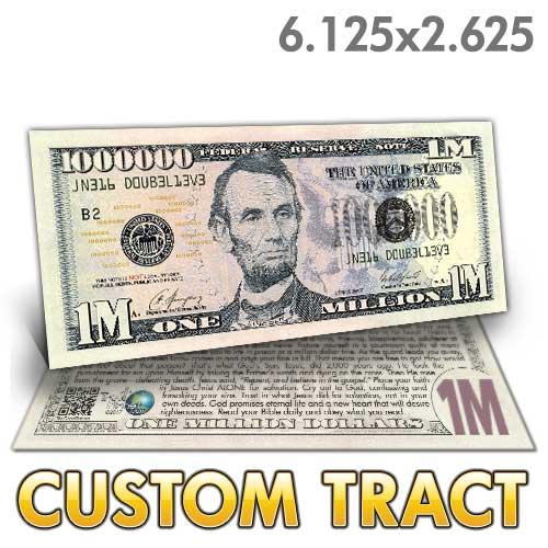 Custom Tract Lincoln Million Dollar Bill