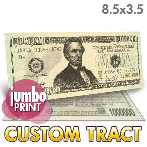 Custom Tract - Million Dollar Bill (Lincoln Jumbo)