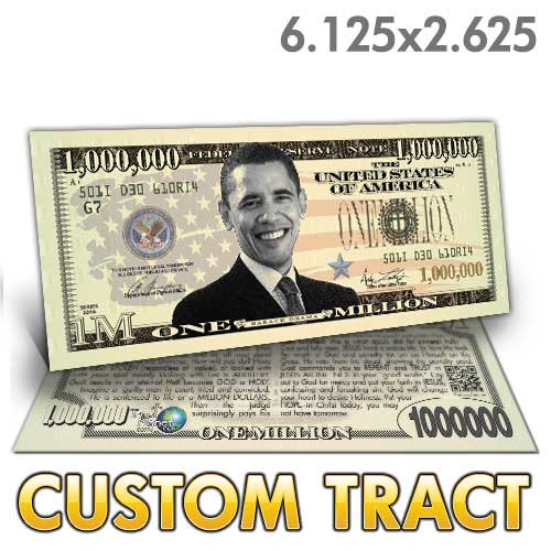 Custom Tract - Obama Million Dollar Bill