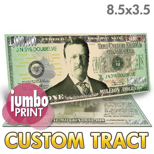 Custom Tract - Million Dollar Bill (Roosevelt Jumbo)