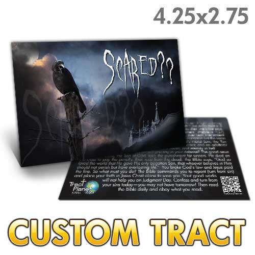 Custom Tract - Scared? (Adult Halloween)