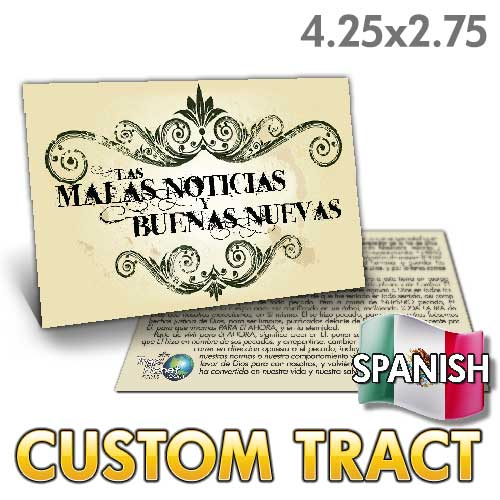 Custom Tract - Spanish Bad News Good News