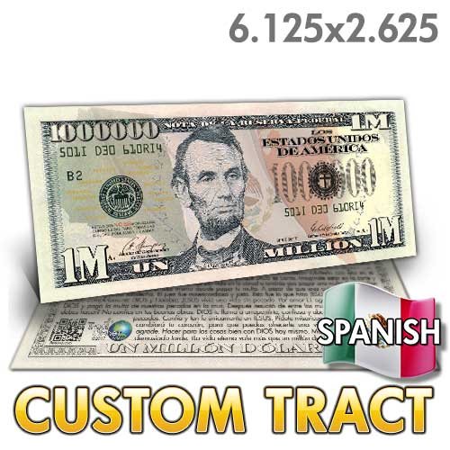 Custom Tract - Spanish Million Dollar Bill (Lincoln)