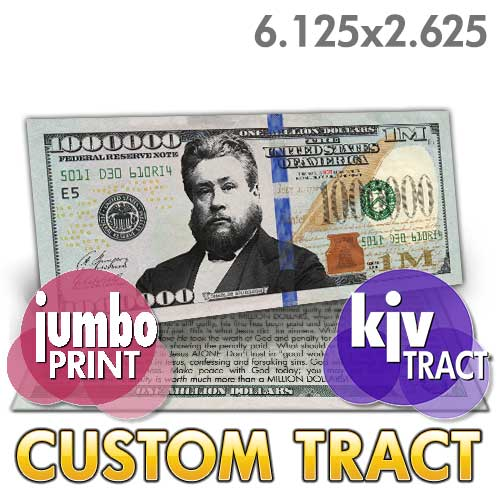Custom Tract - Spurgeon Million Dollar Bill (KJV)