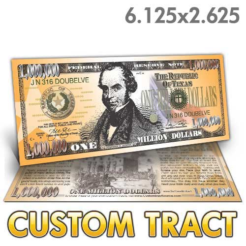 Custom Tract - Texas Million Dollar Bill