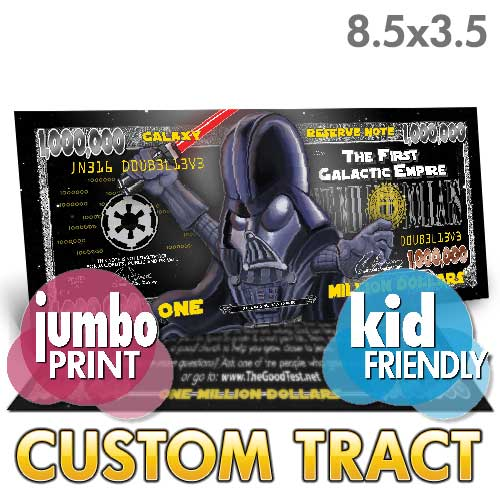 Custom Tract - Vader Million Dollar Bill (Jumbo)