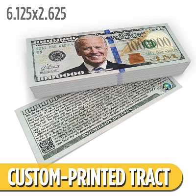 Custom Tract - Biden Million Dollar Bill