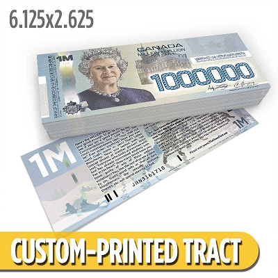 Custom Tract - Canadian Million Dollar Bill