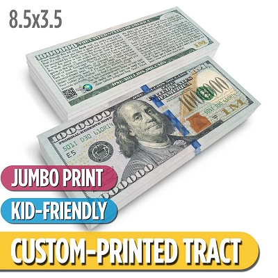 Custom Tract - Franklin Million Dollar Bill (Jumbo)