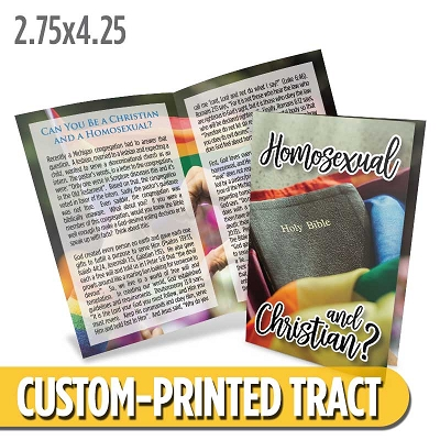 Custom Tract - Tracts For Believers: Homosexual and Christian?