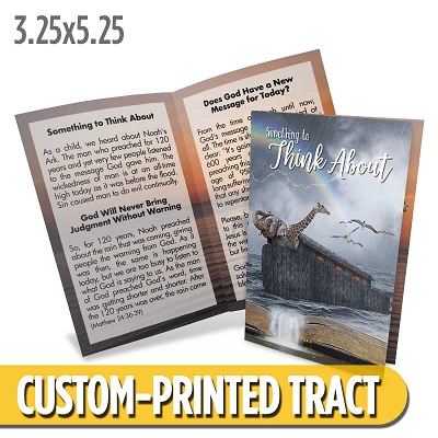 Custom Tract - Something to Think About (Noah's Ark)
