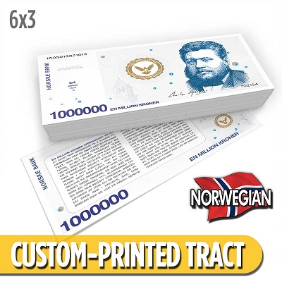 Custom Tract - Norwegian Million Dollar Bill