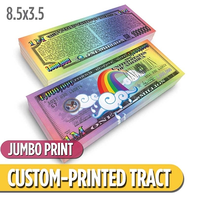 Custom Tract - Rainbow Million Dollar Bill (Jumbo)