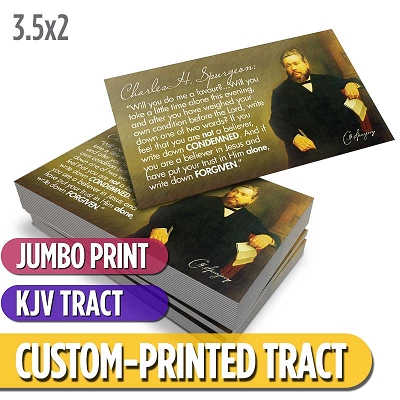 Custom Tract - Spurgeon Card (KJV)
