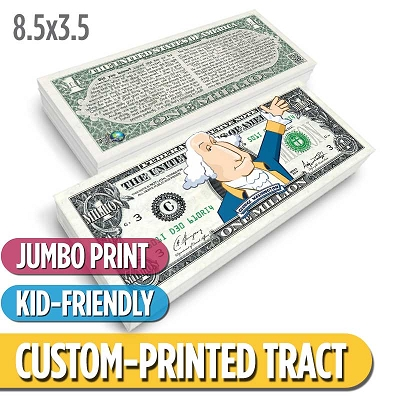 Custom Tract - Washington Million Dollar Bill (Jumbo)