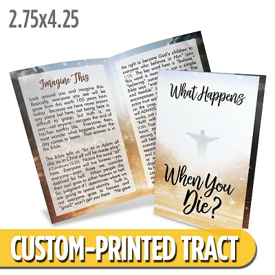 Custom Tract - Tracts For Believers: What Happens When You Die?