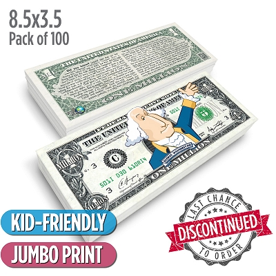 Washington Million Dollar Bill - Jumbo (Discontinued)